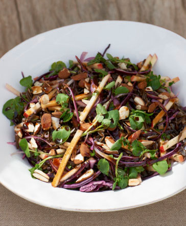 Wild Rice, Red Cabbage, Apple and Toasted Cobnuts Salad